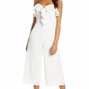 Adelyn Rae Ashe Strapless Jumpsuit White Size M